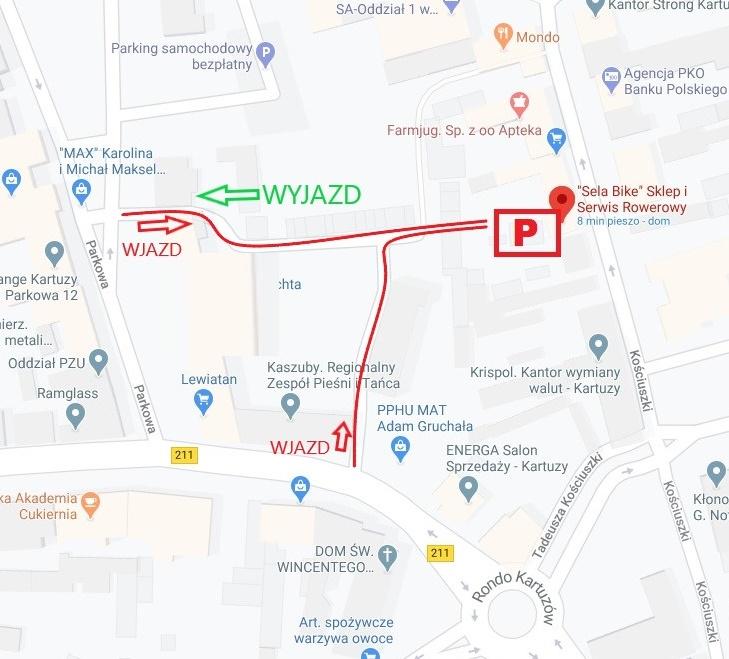 Mapa do parkingu